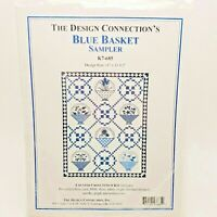 Counted Cross Stitch Kit Blue Basket Sampler Design Connection K7-685