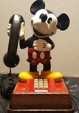 Vintage Mickey Mouse Touch Tone Desk Phone Telephone Tested Working Walt Disney