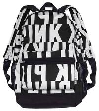 NWT Victoria's Secret PINK Campus Backpack BLACK/ WHITE Laptop School Book Bag ❤