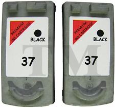PG-37 Twin Pack Black Ink Cartridges fits Canon Pixma MP190 Printers