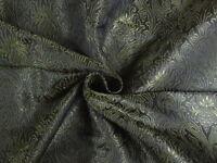 "BROCADE~WIDTH 44""~BLACK & GREEN COLOUR"