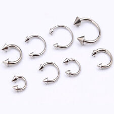 16G 4pc Surgical Steel Horseshoe Bar Lip Nose Septum Ear Ring Stud Body Piercing