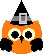 autocollant sticker fete deco halloween macbook voiture hibou chapeau sorciere