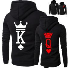 New Couple Hoodie King & Queen & Princess & Prince Sweatshirt Black Lover Hooded