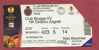 Orig.Ticket   Europa League  2010/11   CLUB BRUGGE KV - NK DINAMO ZAGREB  !!
