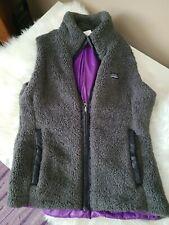 Patagonia Los Gatos Women's Sleveless Fleece Vest Grey/Purple Color M Medium