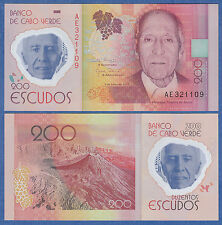 Cape Verde 200 Escudos P New 2014 UNC Low Shipping! Combine FREE! Polymer Note