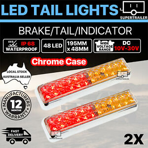 2X Trailer lights LED tail lights Truck Ute Caravan Indicator iP68 12V 24V Lamp