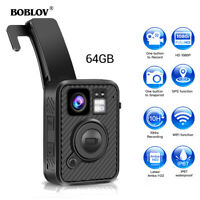 Boblov 1440P Police Body Worn Camera 64GB GPS WiFi Camcorder Security Waterproof