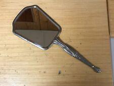 Vintage Silver Hand Mirror (Flower Design)
