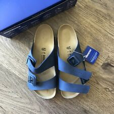 (Free Shipping) BIRKENSTOCK Arizona Sandals - Blue / Size 43