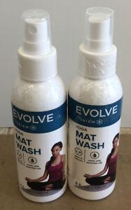 Lot Of 2 NEW SEALED Evolve By Gaiam Yoga Mat Wash 4 FL OZ Spray (8 Oz Total)