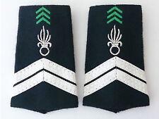 Fourreaux d'épaules Grades Galons pour MARÉCHAL DES LOGIS Cavalerie 1°REC Légion
