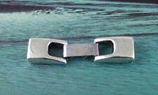 10 pares de plata tibetana Broche de gancho para Cable de cuero 6x2mm