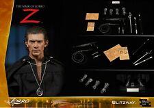 "Sideshow Blitzway 1/6 12"" BW-UMS 11101 The Mask of Zorro Antonio Banderas Figure"
