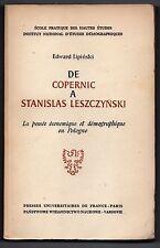 De Copernic à Stanislas Leszczyński - Pensée économique/démographique en Pologne