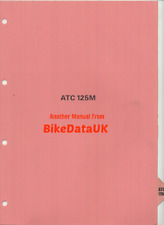 Honda ATC125M (84-85) Genuine Factory Shop Repair Manual Book ATC 125 M ATV BT28