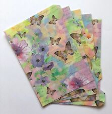 A5 Filofax Organiser Dividers in a Rainbow Butterflies Design - Fully Laminated