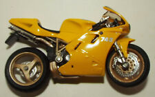 Maisto Die Cast Ducati Motorcycle in Yellow number 748