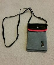 Big Mango Crossbody Bag Grey, Black & Pink with Cat on it NEW