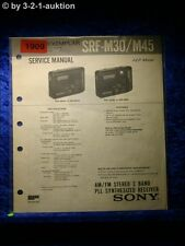 Sony Service Manual SRF M30 / M45 2 Band PLL Synthesized Receiver (#1909)
