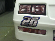 Monte Carlo Headlight Decal With Turn Signal For Plastic Racing Front End