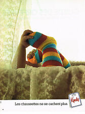 PUBLICITE  1976   KINDY  chaussettes