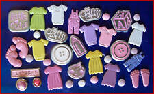 SHAPED BRADS - MIXED Baby Girl 15 pcs- BULK CRAFT - New