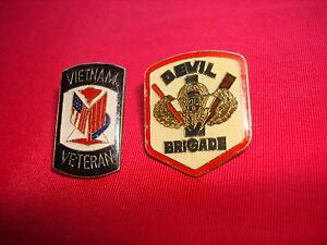 Set Of 2 Lapel Pins: VIETNAM VETERAN + US 503rd AIRBORNE INFANTRY RGT Insignia