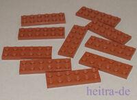 LEGO - 10 x Platte / Platten 2x6 braun / Reddish Brown Plate / 3795 NEUWARE