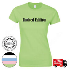 Limited Edition T-Shirt Ladies Girls Tops Slogan Womens Fitted T Shirt. UK.