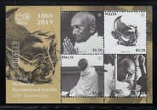 MALTA Mohandas Karamchand Gandhi MNH souvenir sheet