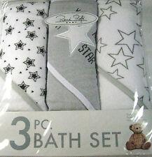 Rene Rolfe 3 Pc. Bath Set Super Soft Terry ,  Super Absorbent Hooded Towels
