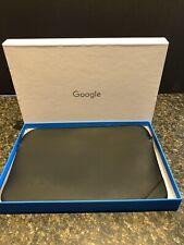 """Padded Case for Google Chromebook (8""""x12"""") Black Zippered"""