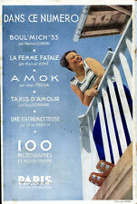 Curiosa: PARIS MAGAZINE n° 28/1933. 100 photographies,Marcel Aymé,Lucienne Boyer