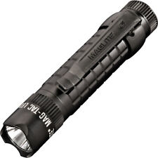 "Mag-Lite Mag-Tac LED Black 5 1/8"" overall. Grooved aircraft grade aluminum body"
