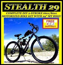 "MEGA POWER DIY 2-STROKE 48CC 66cc 80cc MOTORIZED BIKE KIT WITH 29"" MT. BIKE!"