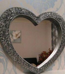 New Large Love Heart Bedroom Dressing Table Hallway Bathroom Antique Mirror