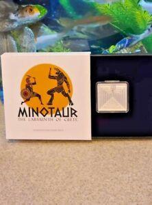 2021 PAMP $4.1.5oz. Fine Silver *Minotaur Labyrinth of Crete* Coin 2000 Mintage