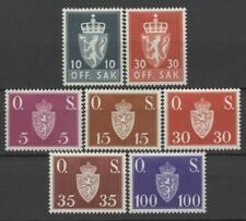 No: 73150 - NORWAY - LOT OF 7 OLD OFFICIAL STAMPS - MH!!