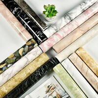 Marble Wallpaper Sticker 1/2M Modern Living Room Furniture Waterproof Decoration