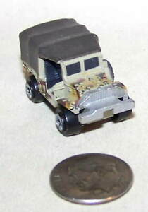 Small Micro Machine WWII type M-37 Weapons Carrier in Desert Camouflage