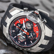 DETOMASO ADRENALINE JUNKIE DT-YG103-D Mens Chronograpf Date Silicone strap New