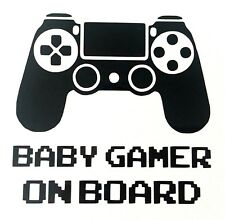 Playstation Baby Gamer on Board Vinyl Decal Sticker 140mm x 136mm - 23 Colours