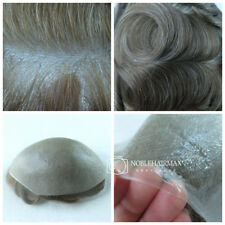 Natural Human Hair Ultra Thin Skin Hairpiece for Men Hair Replacement System Wig
