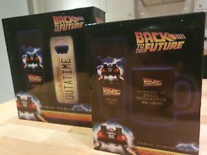 Back to the Future Merchandise. Cup, Bottle Opener and Shower Gels.