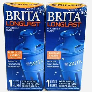 Brita Longlast Replacement Filters for Pitchers Dispensers - 2 Filters Sealed