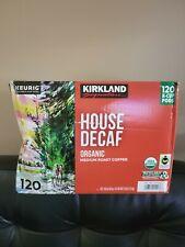 Kirkland Signature House Decaf Organic Coffee Medium Roast, Keurig K Cup Pods