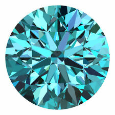 Sparking 2.15CT 8.44 mm Fiery Blue VS Round Cut Moissanite =2.15 Carat Diamond