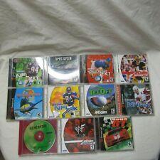 Sega Dreamcast Lot of 11 Games Complete Tested Work NFL Tee Off Spec Ops